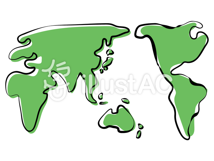 世界地図 画像 イラスト