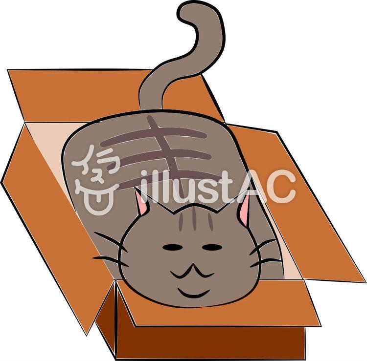 猫 ダンボール イラスト