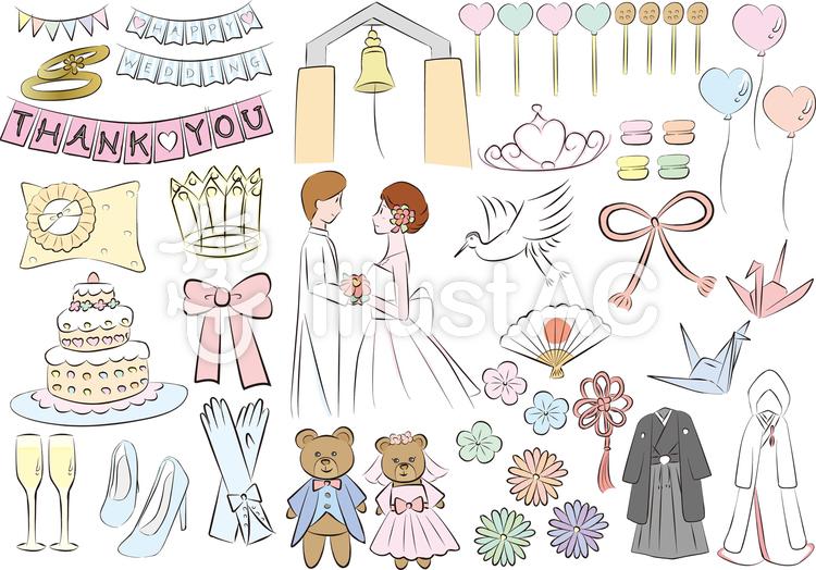 結婚式 イラスト かわいい 手書き