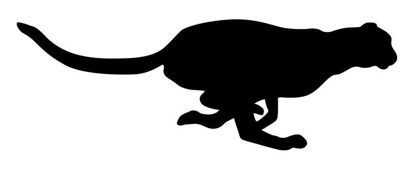 免费的剪影矢量:图标, 一个例证, 侧影, 简单, 猎豹
