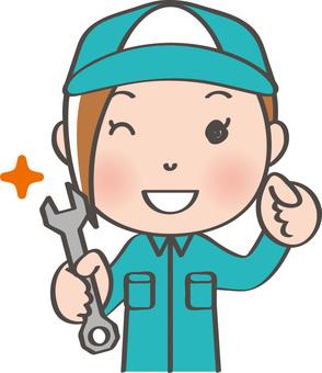 Worker female _ spanner