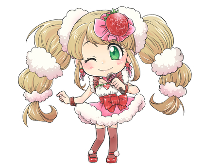 딸기 히로인 노래하는 모습 4