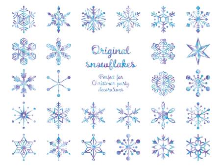 グールな色合いの雪の結晶のセット