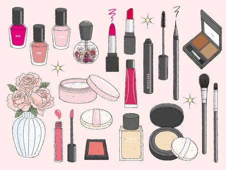 Illustration of cosmetics