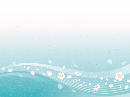 Cherry flowing water image Washi 05