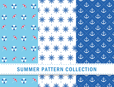 Summer pattern / marine / seamless pattern