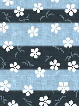 和風の撫子の背景素材01/青