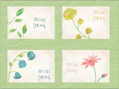 Flower frame set ver 01