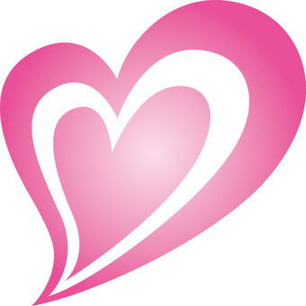 Heart _ double _ pink