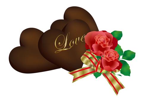 Heart Chocolate & Rose 19