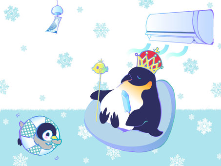 Emperor Penguin, In the middle of refreshment.