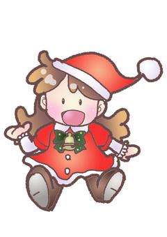 Girls wearing Christmas costumes