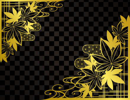 Autumn Leaves Background 2 _ Black