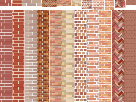 Eleven types of brick patterns