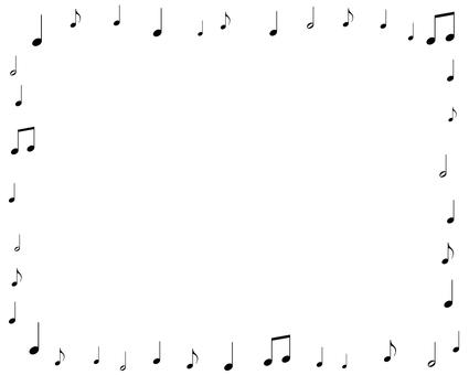 Musical note frame 1