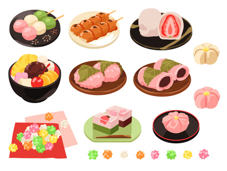 Cooking_Japanese confectionery_Set 1_No line