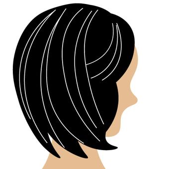 A gray hair lady