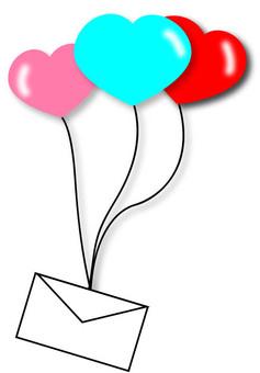 Heart balloon letter