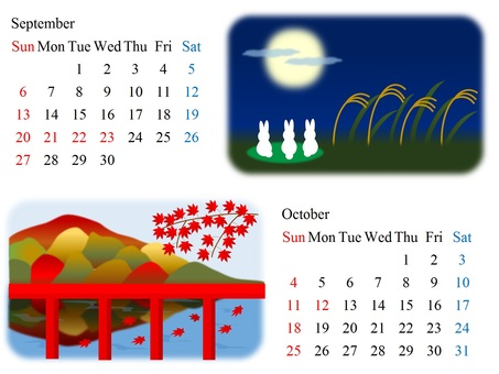 9th and October 2015 calendar
