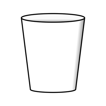 Illustration of paper cup