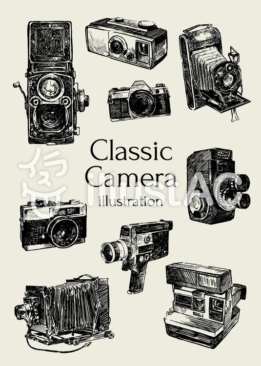 クラシックカメラのイラスト