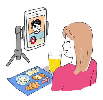 Online drinking video call