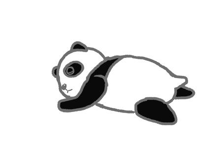 Children panda, sleep.