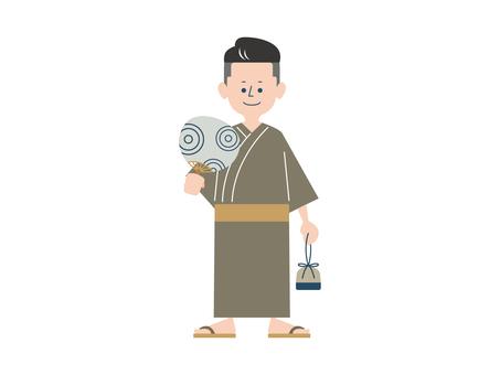 Man _ Yukata _ Fan _ 002