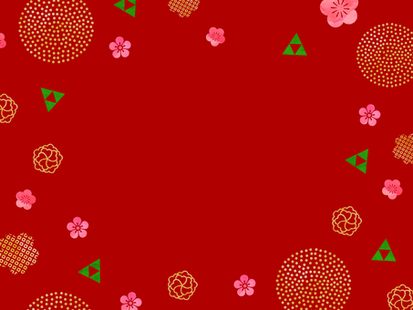 New Year's Japanese style background (red)