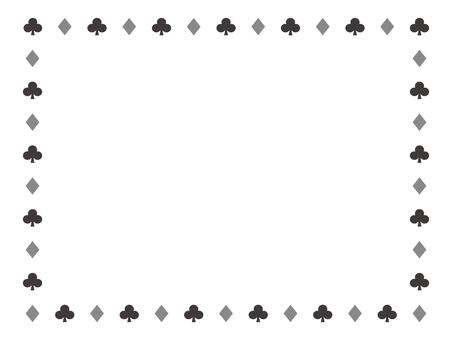 Clover diamond frame