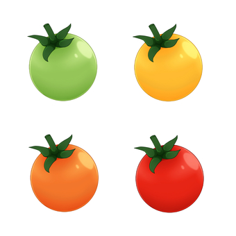 Cherry tomatoes 4 color set