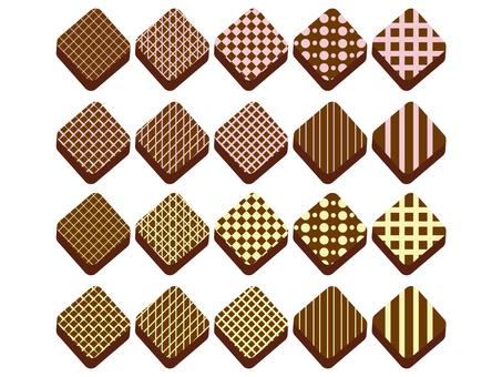 Bite size chocolate