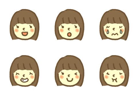 Face icon (girl 1)