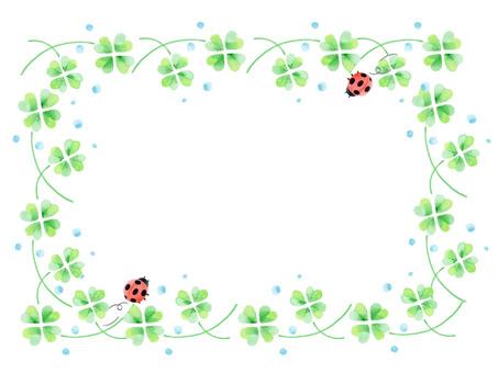 Clover square frame ★ 0123-E