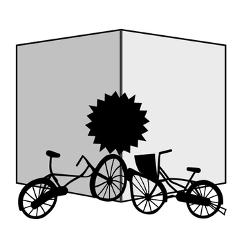 Bicycle accident (warped type)