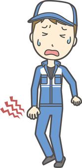 Male mechanic-347-whole body
