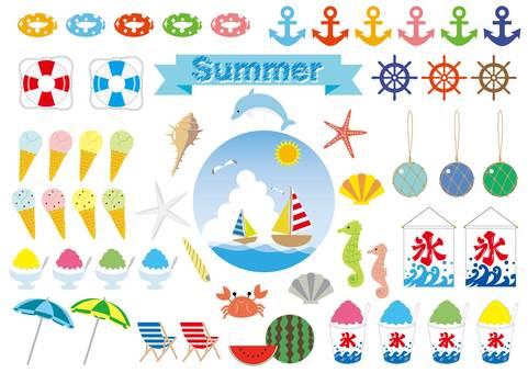 Summer illustration set