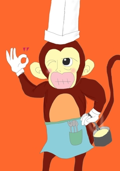 Cook of a monkey
