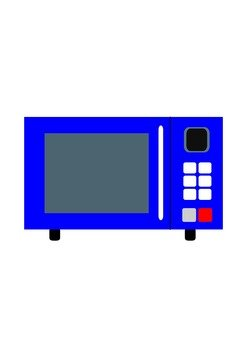 Microwave oven (blue)