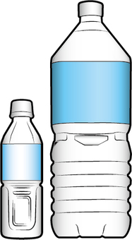 2 kinds of plastic bottles