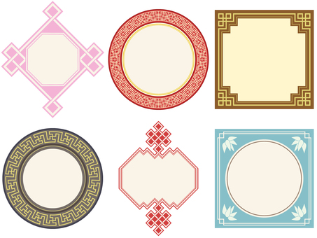Pattern - Chinese pattern frame (without background)