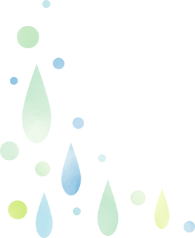 Watercolor style Drops illustration illustration simple