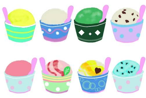 Ice cream assorted summer