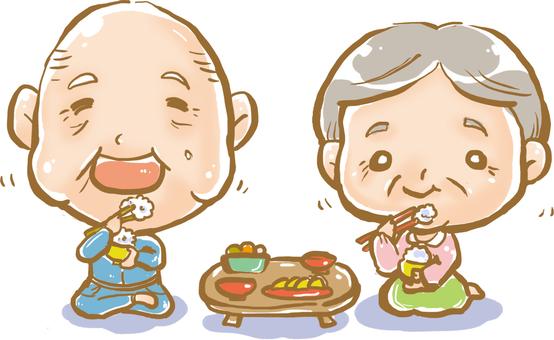 Grandpa and Grandma ★ Smiling table ★