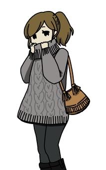 Loose wearing knitted women