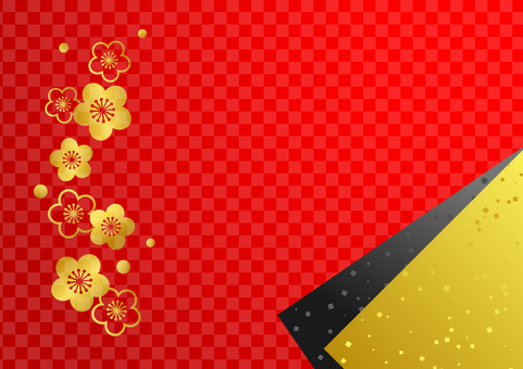 Gold plum checker pattern background