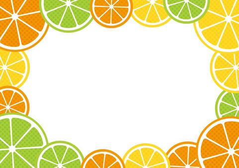 Citrus fruit frame