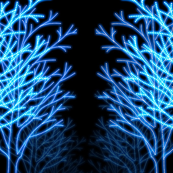 Blue Illumination Street tree