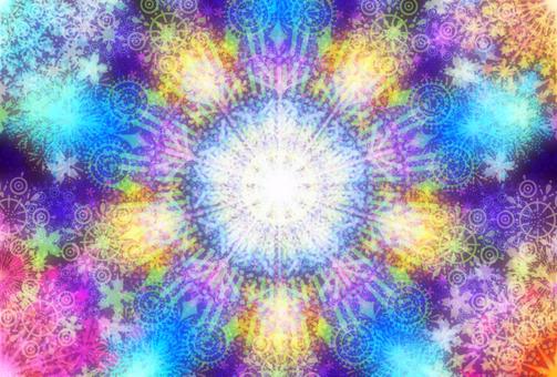 Fireworks kaleidoscope greeting card