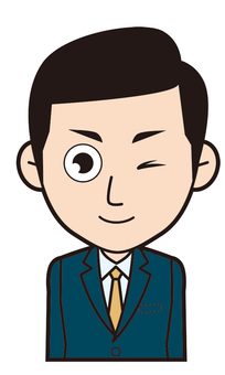 Male employee (wink)